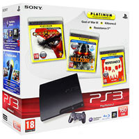 PlayStation 3 (160G)+God of War 3+Killzone 3+Resistance