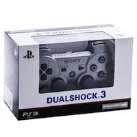 PS 3 Controller Wireless Dual Shock Metallic Grey
