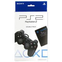 PS 2 Double Pack (Controller+Memory Card 8M) ORIGINAL Black